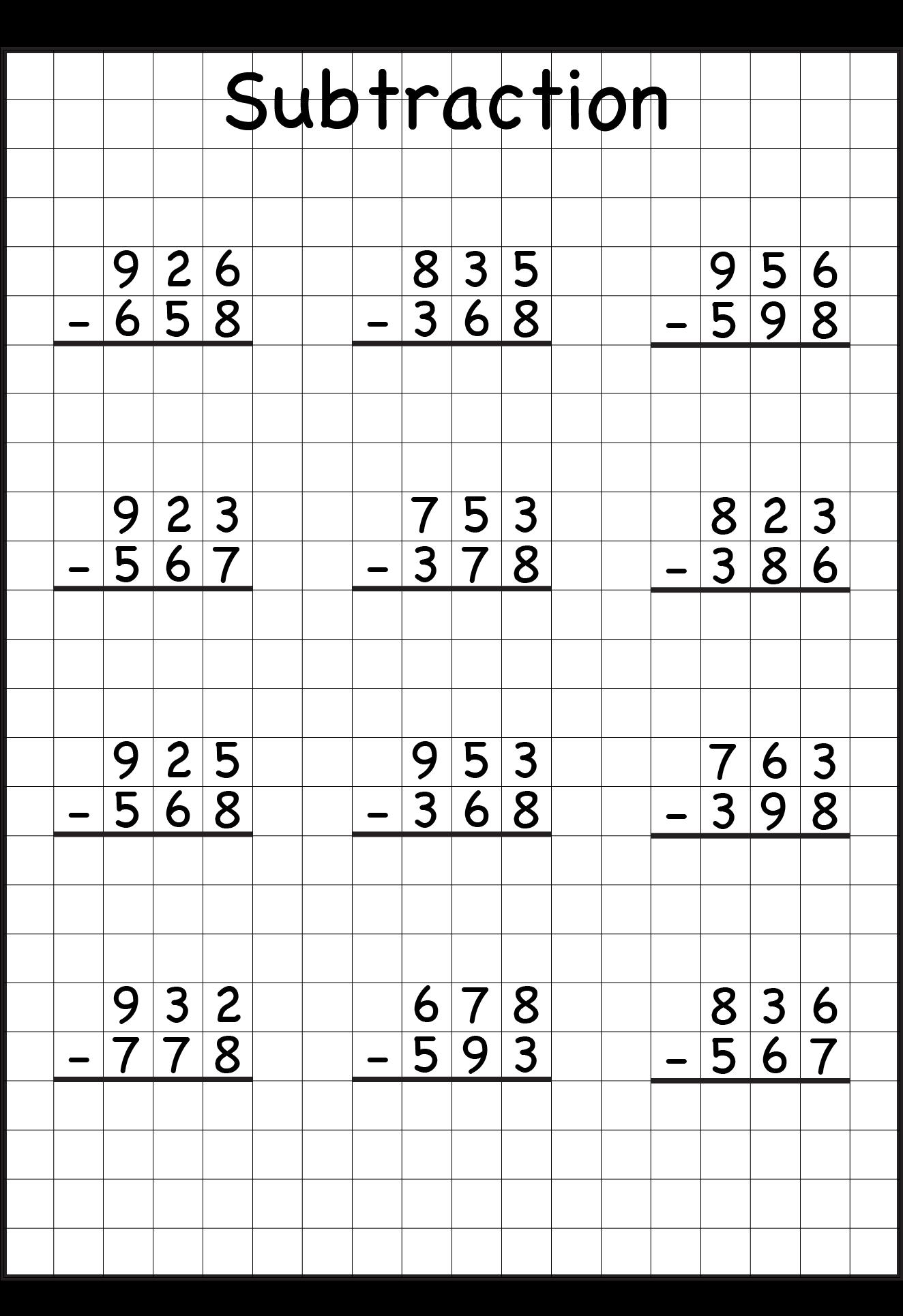 - Download Sub3dgraph1 1,324×1,967 Pixels Grade 3 Math Worksheets
