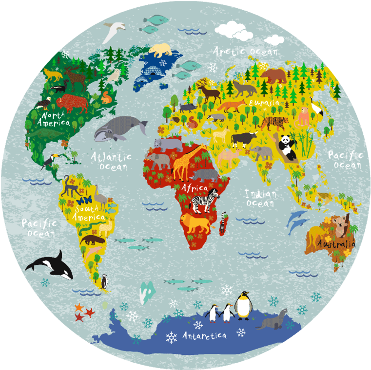 Download Round World Map Png - Full Size PNG Image - PNGkit