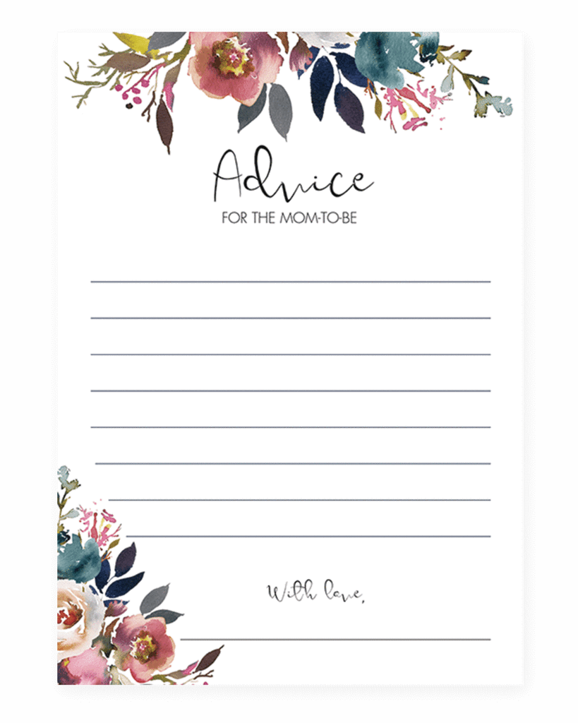 Download Boho Baby Shower Mommy Advice Card Printable By Littlesizzle Advice For The Mom Full Size Png Image Pngkit