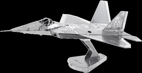 Download Picture Of F-22 Raptor - Metal Earth 3d Laser Cut