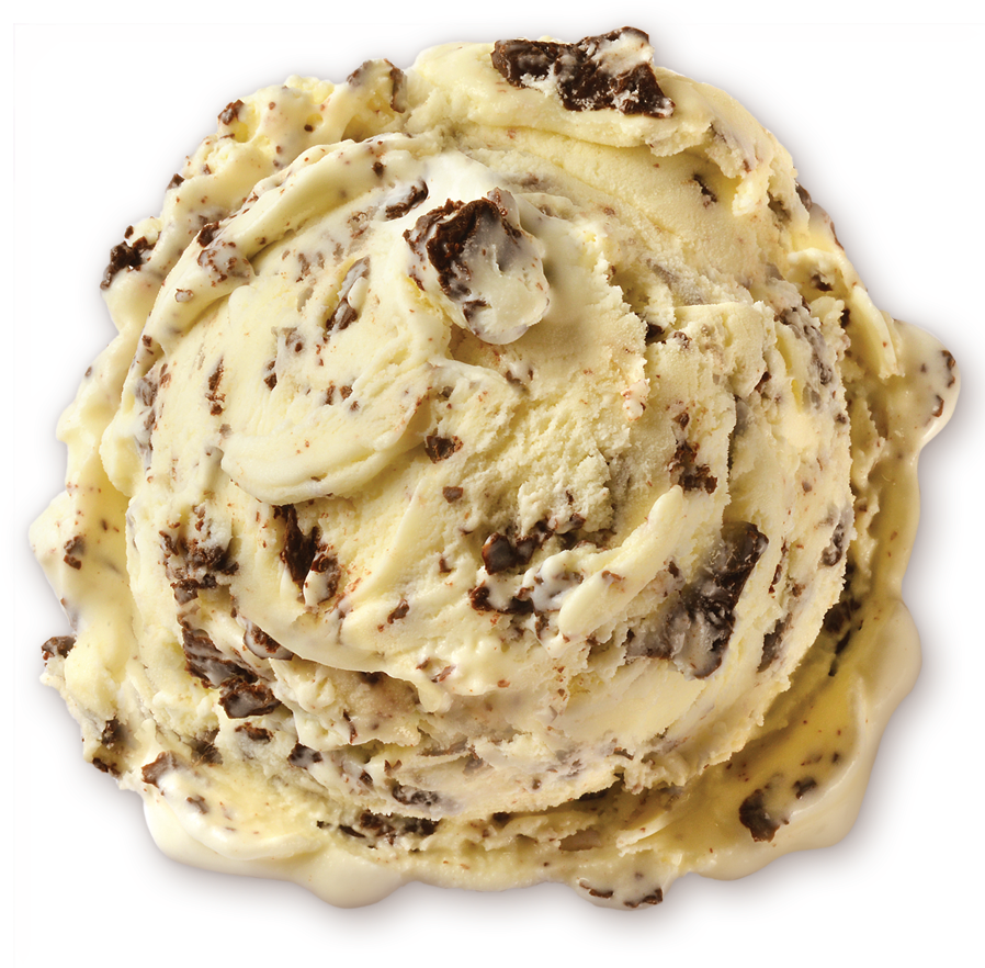 Homemade Brand Chocolate Chip Ice Cream Scoop - Chocolate Chip (900x900), Png Download