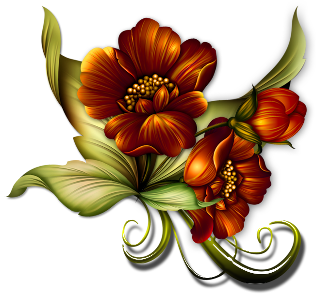 Gs ༻⚜༺ Vintage Diy, Flower Sketches, Clipart Images, - Graphics Transparent Background Flowers (650x613), Png Download