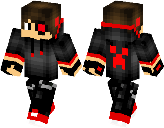 Download Minecraft Skin Cool Red Boy - Full Size PNG Image