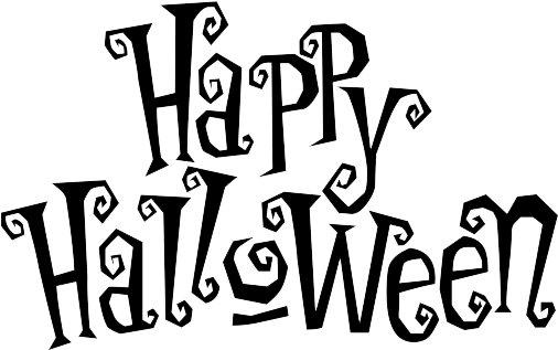 Happy Halloween Text Png (548x365), Png Download
