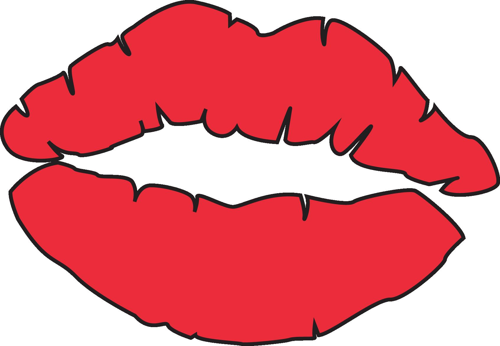Download Lipstick Clipart Cartoon Source - Kissing Lips ...