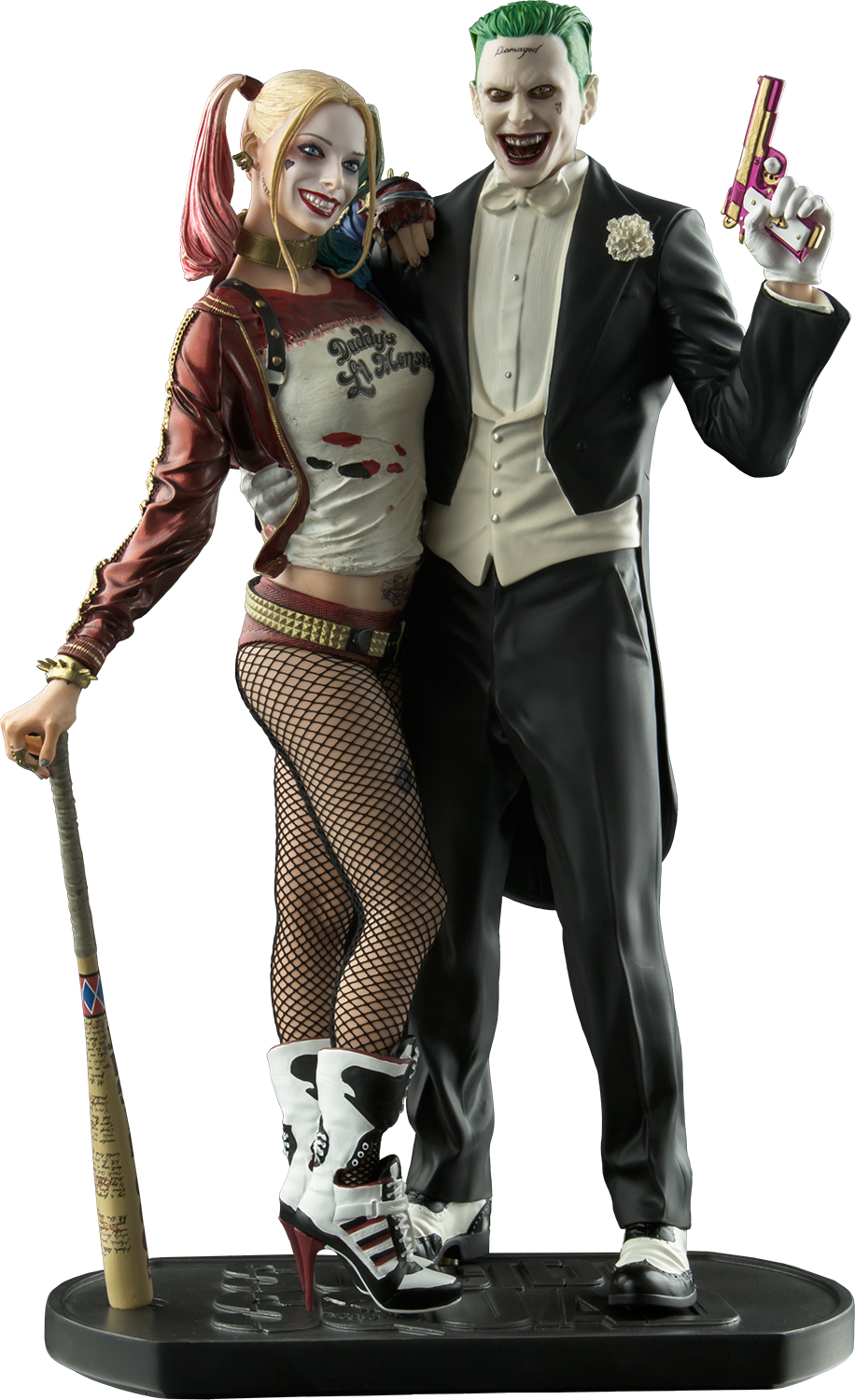 Download Joker And Harley Quinn 12 Statue Suicide Squad Joker Harley Quinn Statue Toy Full Size Png Image Pngkit