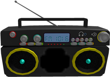 Download Neon 80s Boombox Roblox Radio Gamepass Full Size Png