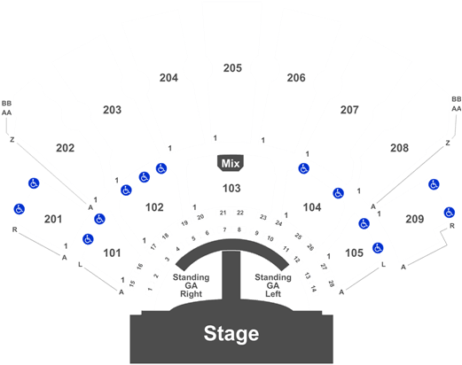 Download Florida Georgia Line Mason Ramsey Tickets Zappos Theater Seating Chart Full Size Png Image Pngkit