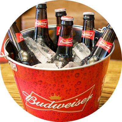 Download Bud Beer Bucket Budweiser 5 Quart Bucket Silver 155038