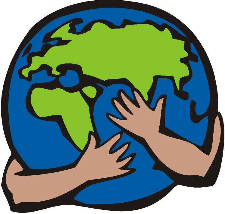 Download Earth Clipart Hugging - Humans Impact The Earth - Full ...
