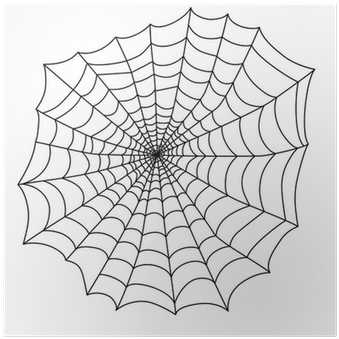 Download Black Spider Web For The Holiday Halloween Vector Poster