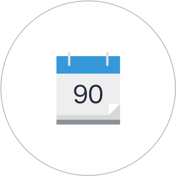 Calendar Days Icon.Download 90 Day Icon Calendar Full Size Png Image Pngkit
