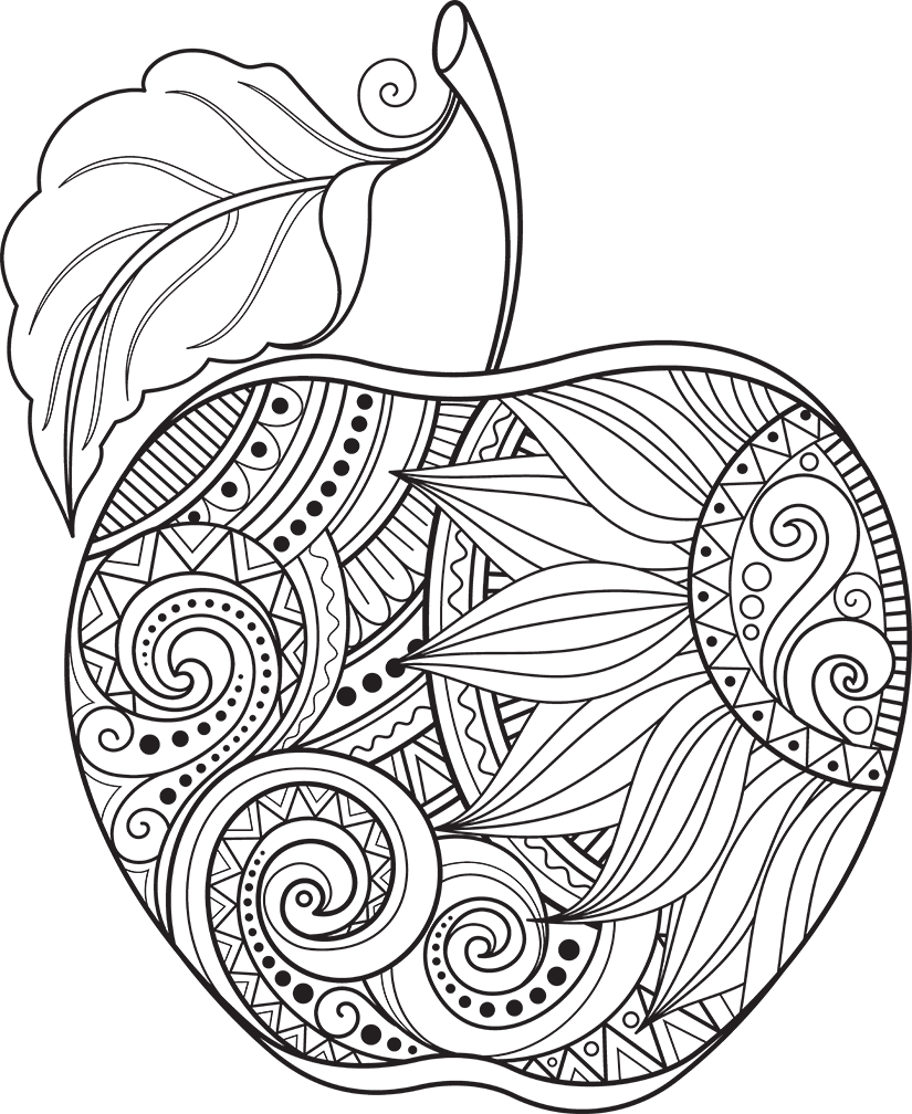 Download Apple Coloring Pages, Food Coloring Pages, Apple Stock ...