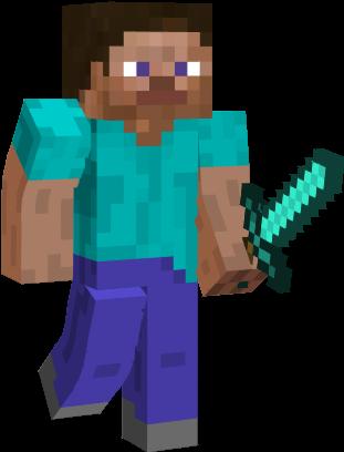 Image result for minecraft steve transparent background