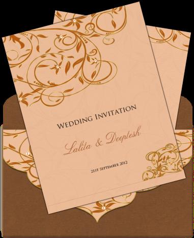 Download Indian Wedding Card Envelope Design Elegant Email Wedding