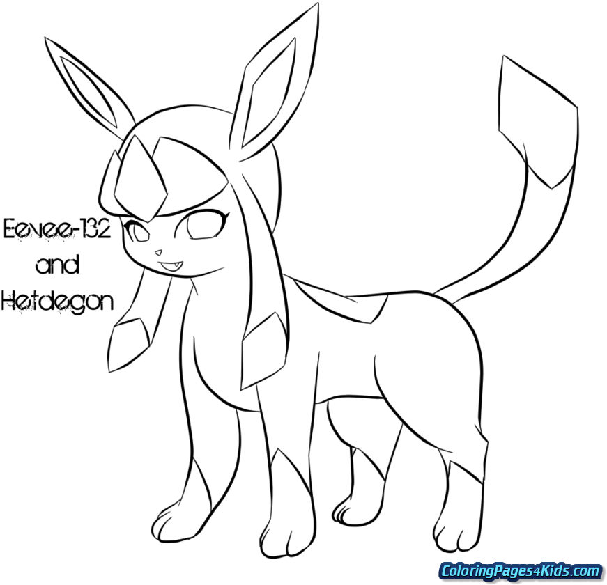 Download Pokemon Eevee Evolutions Coloring Pages - Eevee - Full Size PNG  Image - PNGkit