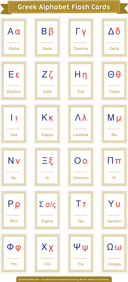 It's just a picture of Agile Greek Alphabet Printable