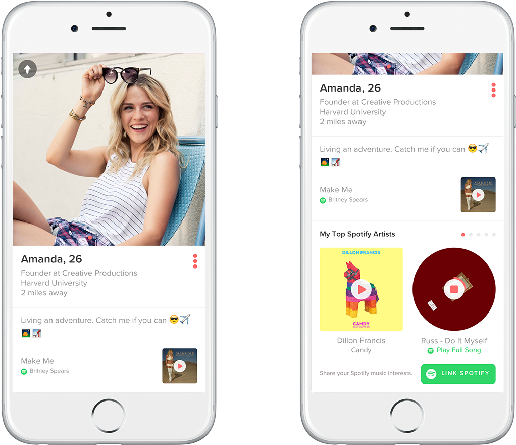 how to connect spotify to tinder