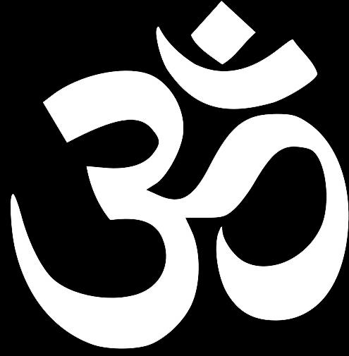 Download Karma And God - White Hinduism Symbol - Full Size