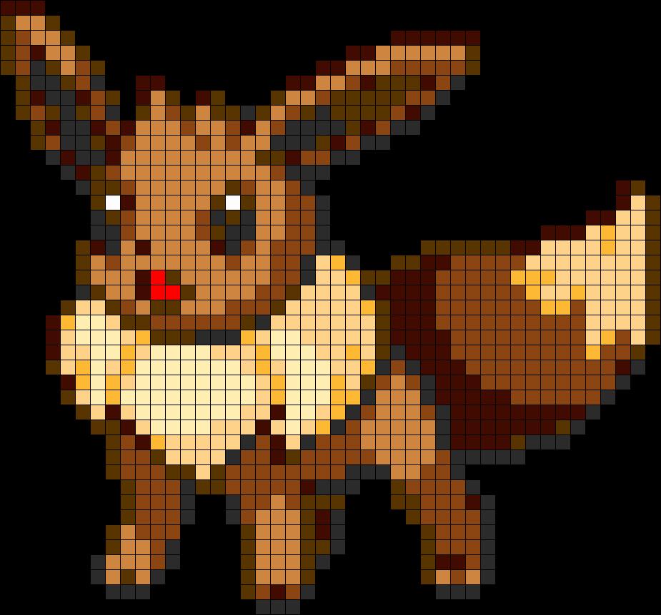 Download Eevee Eevee Pokemon Pixel Art Full Size Png
