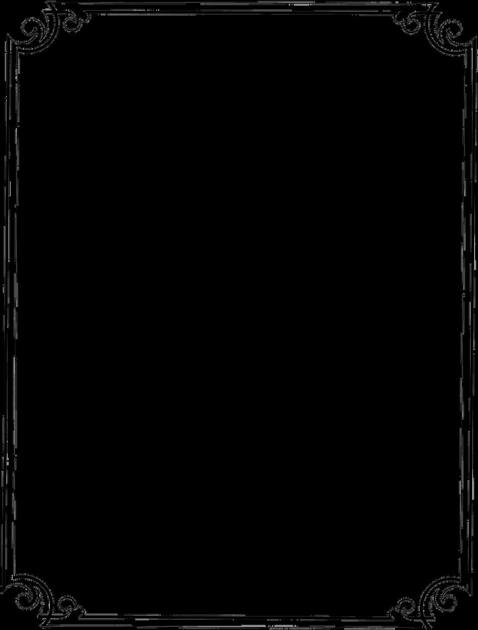 Download Flower Border Line Design Clipart Best Clipgoo Top Invitation Border Designs Png Full Size Png Image Pngkit