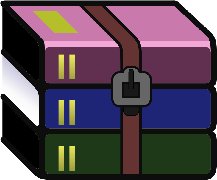 Download Svg Wikipedia Winrar Logo - Disk Compression Software Logo