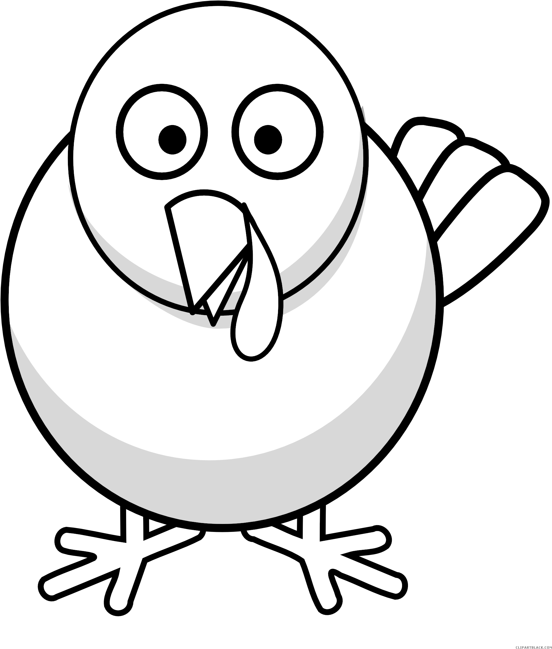 Turkey Bird Png Image With Transparent Background - Wild Turkey Clipart  Black And White - 635x592 PNG Download - PNGkit