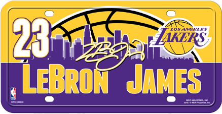 Download Los Angeles Lakers Lebron James License Plate Lakers Lebron James Logo Full Size Png Image Pngkit