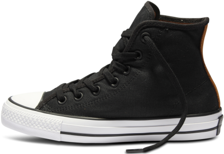 facc45a9d1ae98 Download Converse Ctas Pro Ox Black   Tan - Leather - Full Size PNG ...