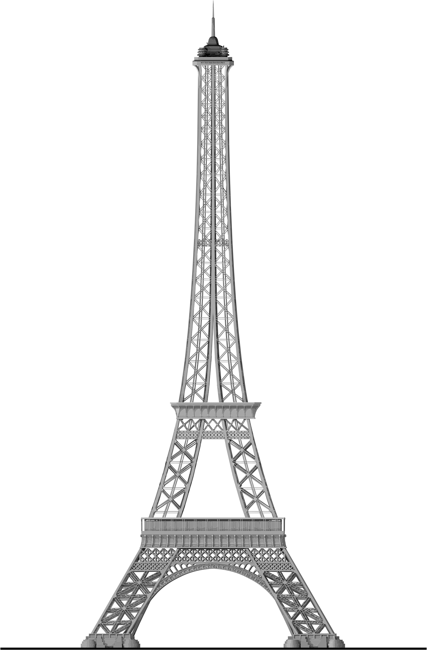 Download Eiffel Tower Silhouette Png - Torre Eiffel Png ...