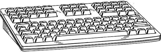 Download 28 Collection Of Keyboard Drawing Image Sketch Of Computer Keyboard Full Size Png Image Pngkit