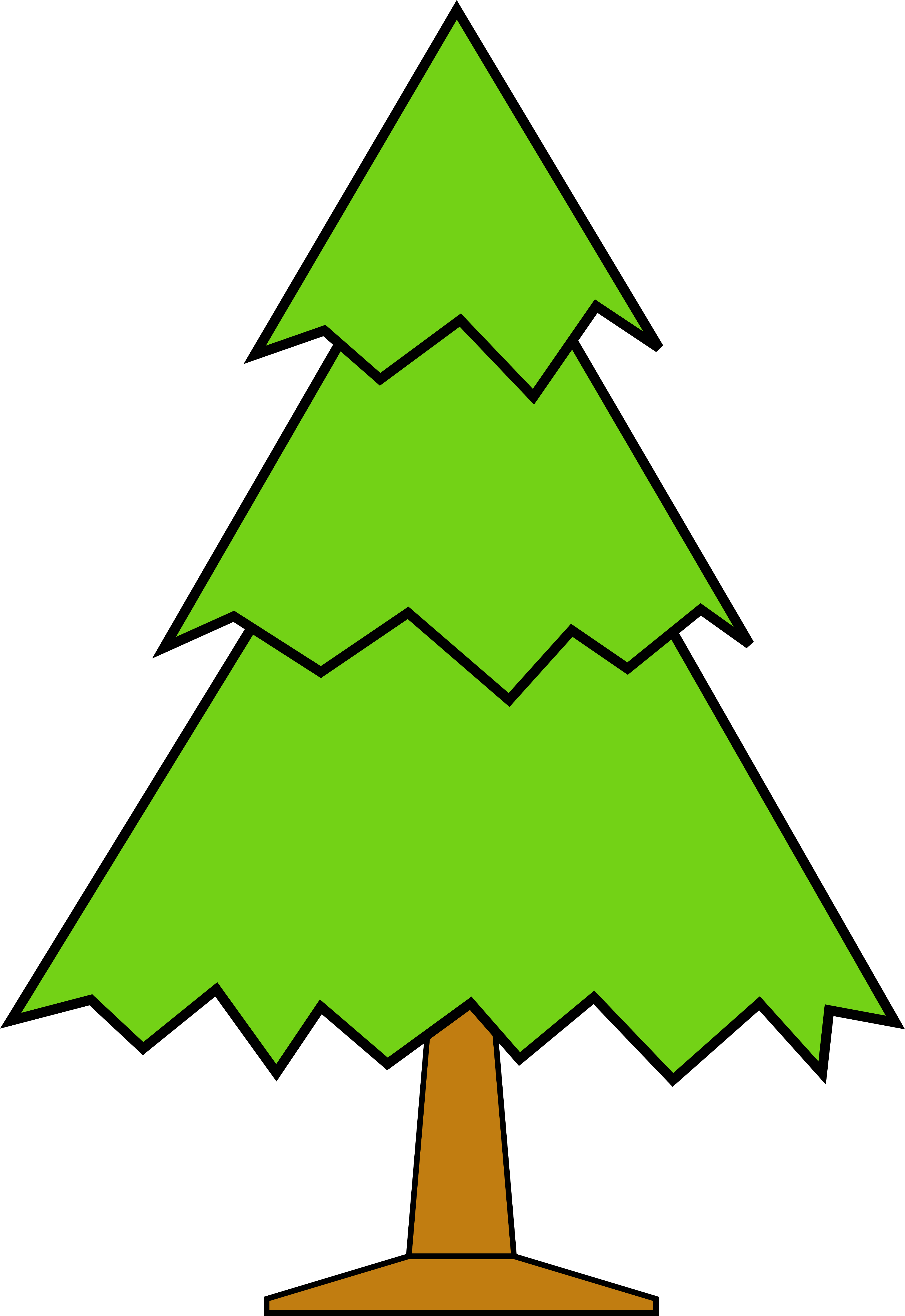 Download Christmas Tree Cartoon Clip Art Merry Christmas And Forest Tree Clipart Full Size Png Image Pngkit