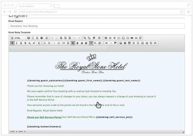 Download The Personalised Email Template Editor Screen In