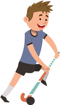 Download Sports Hockey Player Character Cartoon Field Hockey Player Full Size Png Image Pngkit