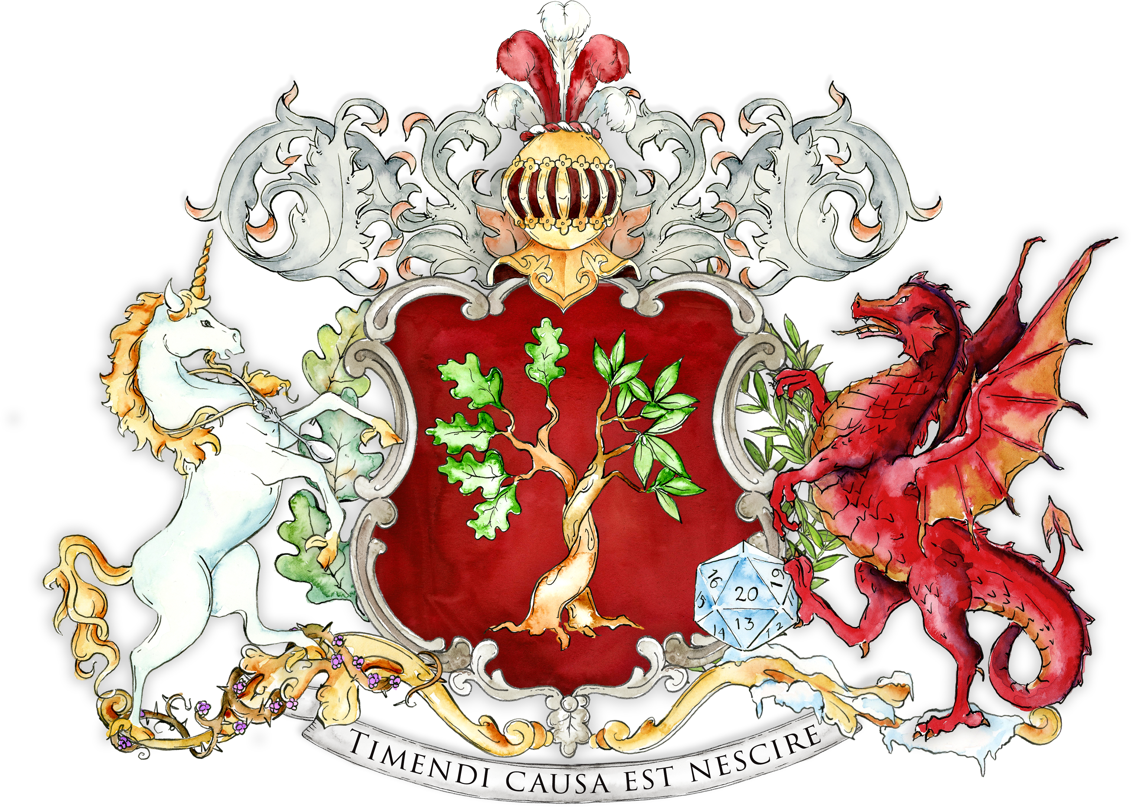 Download Custom Coat Of Arms With A Dragon And Unicorn Crest Full Size Png Image Pngkit