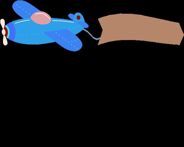 Download Cartoon Airplane Banner Airplane Clipart Banner Clipart