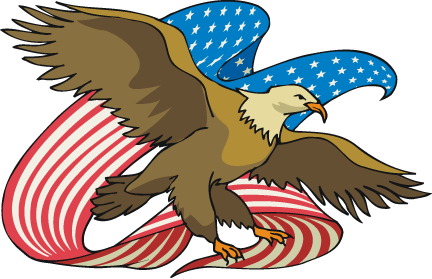 ᐈ Us flag clip art stock pictures, Royalty Free american eagle flag  backgrounds | download on Depositphotos®