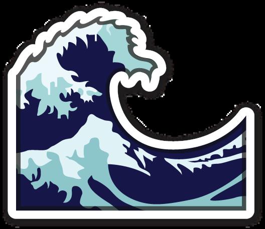 Download Emoji Sound Loudspeaker Wave Clip Art - Wave Emoji Transparent  Background - Full Size PNG Image - PNGkit