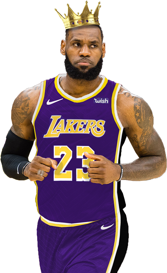 Download Of Lebron James In The Brand New Los Angeles Lakers Lebron James Lakers Cartoon Full Size Png Image Pngkit