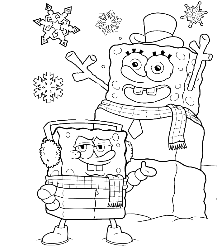 Sports coloring: Gangsta Spongebob Coloring Pages | Coloring-book.buzz | 789x697