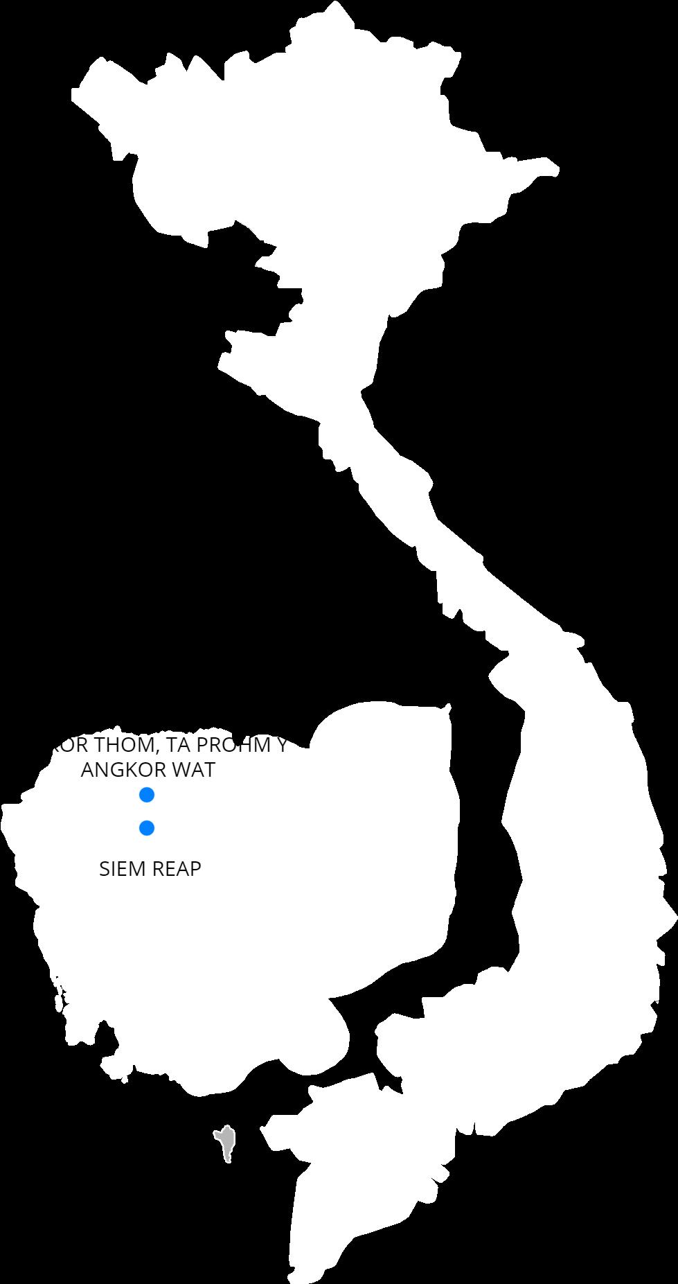 Download Siem Reap Angkorwat Angkorthom Taprohm - Blank Outline Of