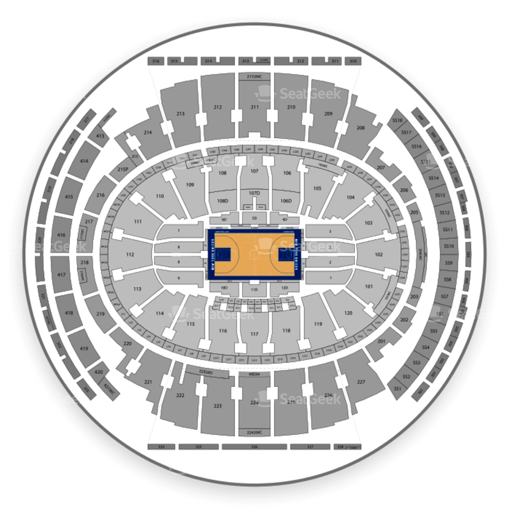 Download New York Knicks Seating Chart Madison Square Garden