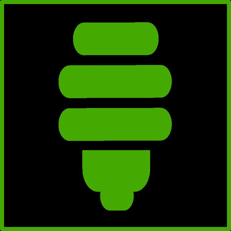 Download Eco Green Light Bulb Icon Desenho Lampada Verde Png
