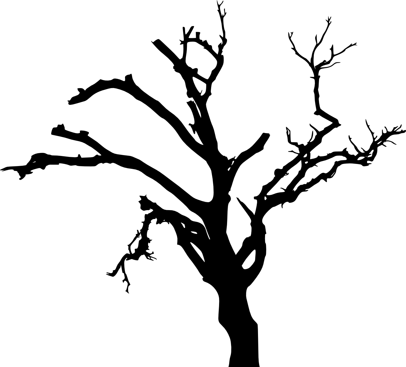 Download 10 Spooky Dead Tree Silhouette Vol Scary Tree Silhouette Png Full Size Png Image Pngkit