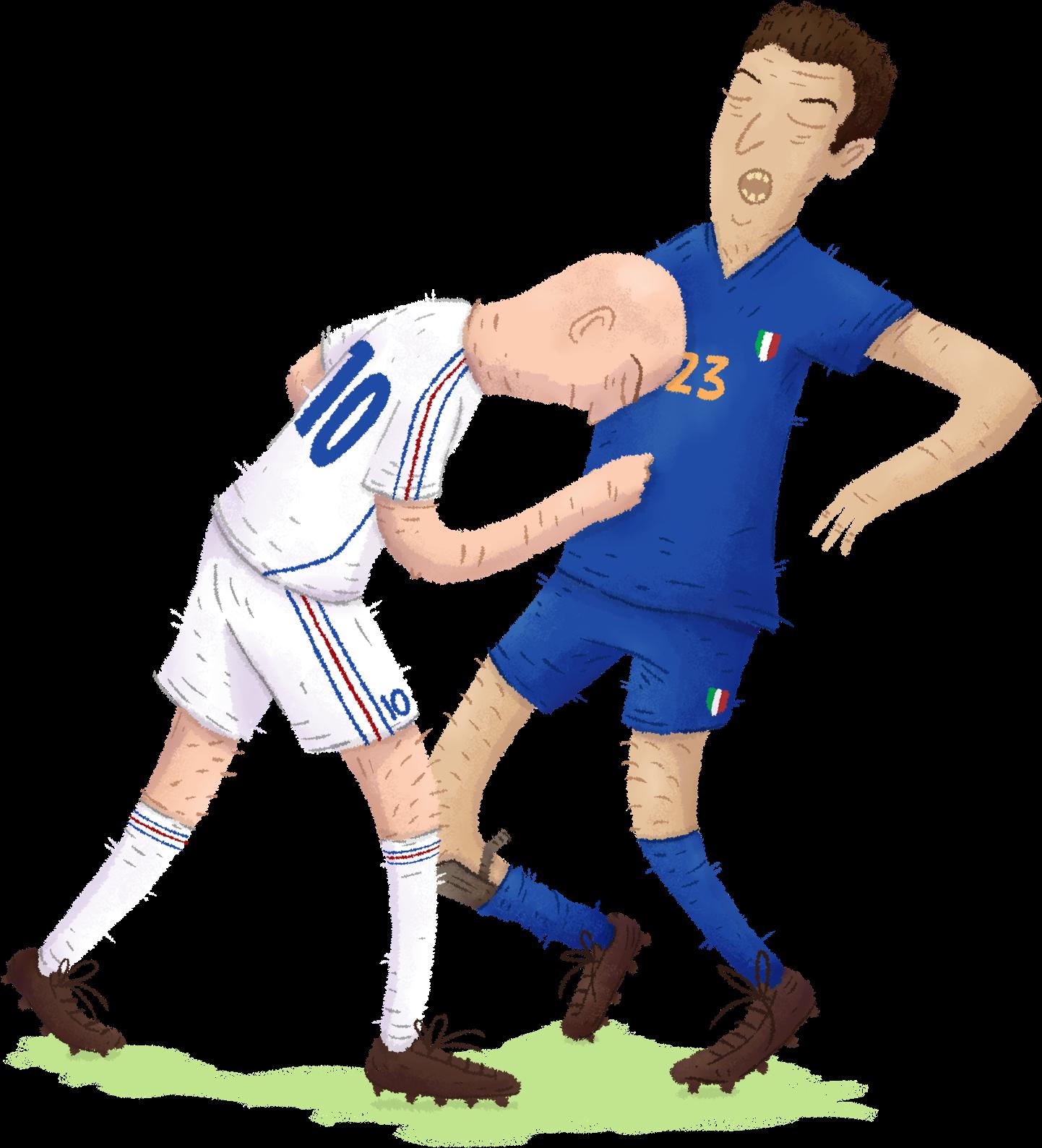 Download Zidane, France Materazzi, Italie - Zidane Materazzi Illustration -  Full Size PNG Image - PNGkit