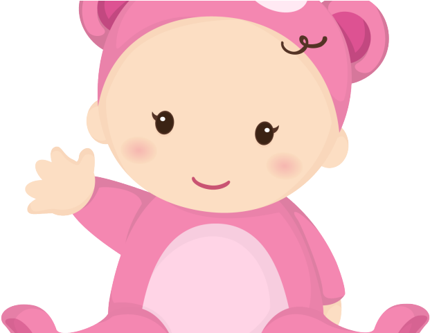 Download Cute Baby Clipart Bebe Menina Desenho Png Full Size