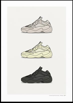 Sneaker Posters Png Wallpaper Cartoon Yeezy Shoe Drawing - Adidas Yeezy 500 Blush Mens (360x481