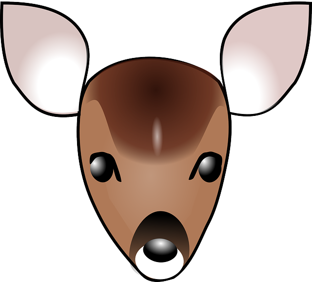 Vector Clipart - Brown silhouette of deer head. Vector Illustration  gg82662596 - GoGraph