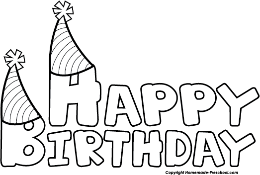 Download Click To Save Image Happy Birthday Clip Art Black And White Full Size Png Image Pngkit