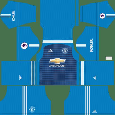 Download Goalkeeper Manchester United Away Kit 2018 19 Dream League Soccer 2018 Kits Japan Full Size Png Image Pngkit